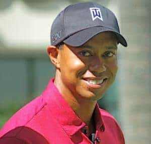 Tiger Woods - Red Shirt